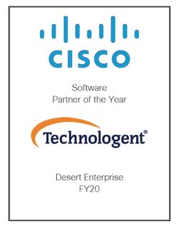 Technologent - Cisco Software Partner Award